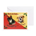 Chihuahua Naughty Or Nice Holiday Cards (Pk Of 10)