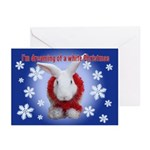 Bunny &Quot;White Christmas&Quot; Cards (Pk Of 10)