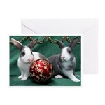 Bunnies With Ornament Christmas Cards (Pk Of 10)