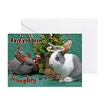 Naughty Or Nice Bunny Holiday Cards (Pk Of 10)