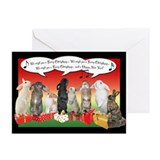 Christmas rabbits Greeting Cards (20 Pack)
