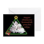 Baby Bunnies Christmas Tree Cards (Pk of 20)