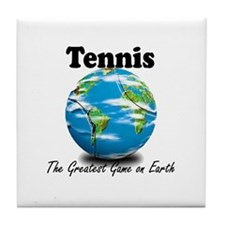 Tennis - Greatest Game on Earth Tile Coaster