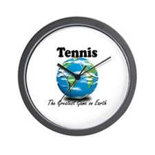Tennis - Greatest Game on Earth Wall Clock