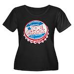 Joe 6 Pack Women's Plus Size Scoop Neck Dark T-Shi
