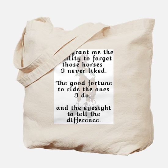 Funny Rider's Prayer Tote Bag