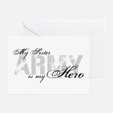 Sister is my Hero ARMY Greeting Cards (Pk of 10)