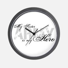 Sister is my Hero ARMY Wall Clock