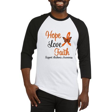 Leukemia Hope Love Faith Baseball Jersey