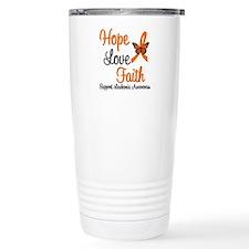 Leukemia Hope Love Faith Travel Mug