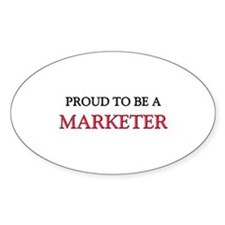 Proud to be a Marketer Oval Decal