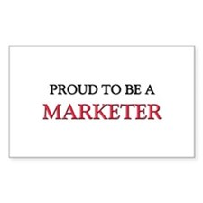 Proud to be a Marketer Rectangle Decal