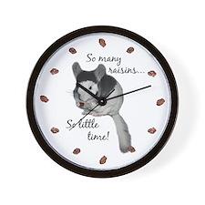 """So many raisins... so little time"" Wall Clock"
