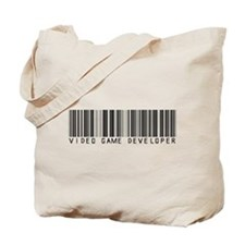 Video Game Dvlpr Barcode Tote Bag