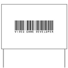 Video Game Dvlpr Barcode Yard Sign