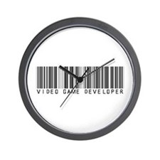 Video Game Dvlpr Barcode Wall Clock