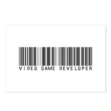 Video Game Dvlpr Barcode Postcards (Package of 8)