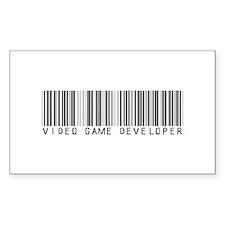 Video Game Dvlpr Barcode Rectangle Decal