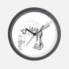 BOY WITH ANVIL Wall Clock