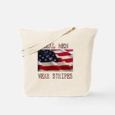 Real Men Wear Stripes Tote Bag