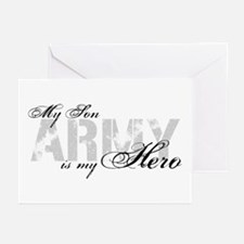 Son is my Hero ARMY Greeting Cards (Pk of 10)