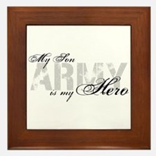Son is my Hero ARMY Framed Tile
