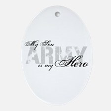 Son is my Hero ARMY Oval Ornament