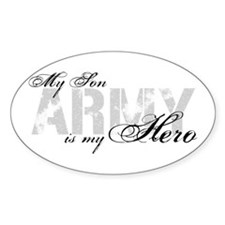 Son is my Hero ARMY Oval Decal