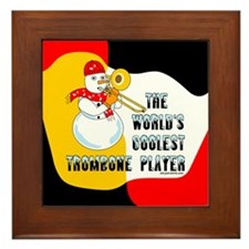 Coolest Trombone Framed Tile