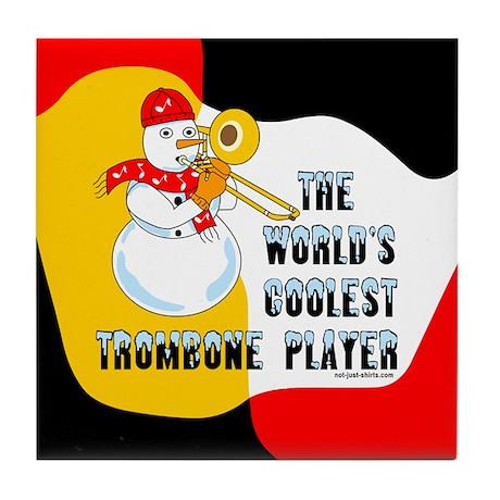 Coolest Trombone Tile Coaster