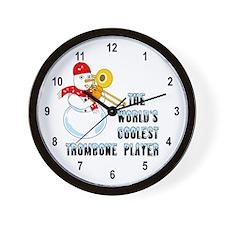 Coolest Trombone Wall Clock
