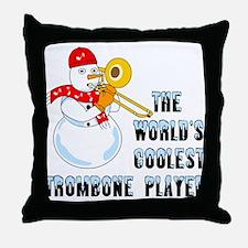 Coolest Trombone Throw Pillow