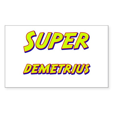 Super demetrius Rectangle Sticker