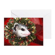 Possum Wreath Greeting Card