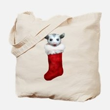 Baby opossum in a stocking Tote Bag