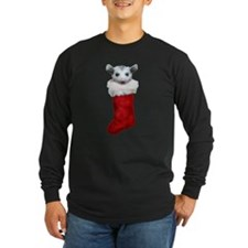 Baby opossum in a stocking T