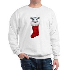 Baby opossum in a stocking Sweatshirt
