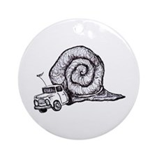 SNAIL TRUCK Ornament (Round)