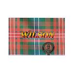 Wilson Tartan & Badge Rectangle Magnet (100 pack)