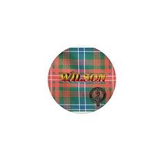 Wilson Tartan & Badge Mini Button (10 pack)