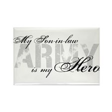 Son-in-law is my Hero ARMY Rectangle Magnet