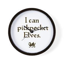 pickpocket elves Wall Clock