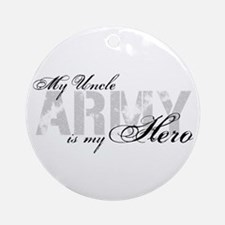 Uncle is my Hero ARMY Ornament (Round)