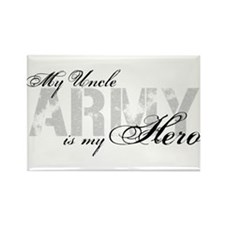 Uncle is my Hero ARMY Rectangle Magnet