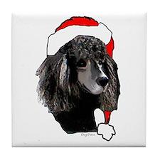 Christmas poodle Tile Coaster