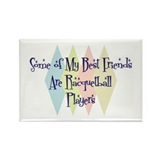 Racquetball Players Friends Rectangle Magnet