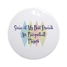 Racquetball Players Friends Ornament (Round)
