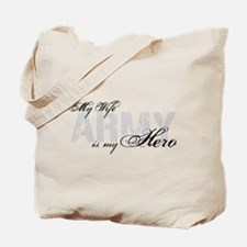 Wife is my Hero ARMY Tote Bag