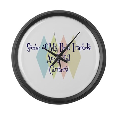 Postal Carriers Friends Large Wall Clock