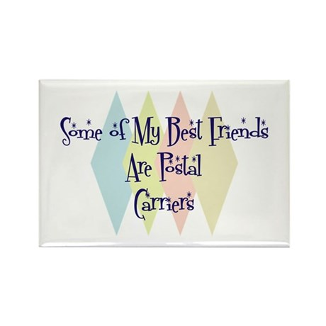 Postal Carriers Friends Rectangle Magnet (10 pack)